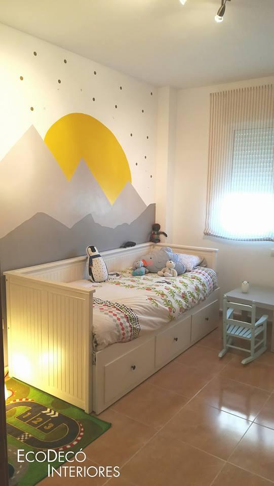 La habitación de Julieta y el espacio infantil.