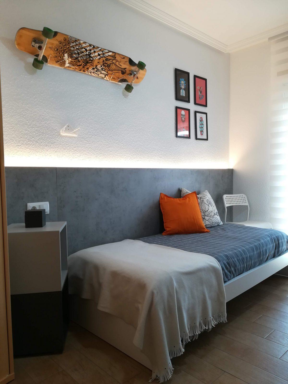 Dormitorio juvenil. Distribución y decoración.